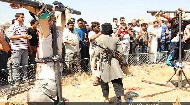 Cristãos crucificados na Síria