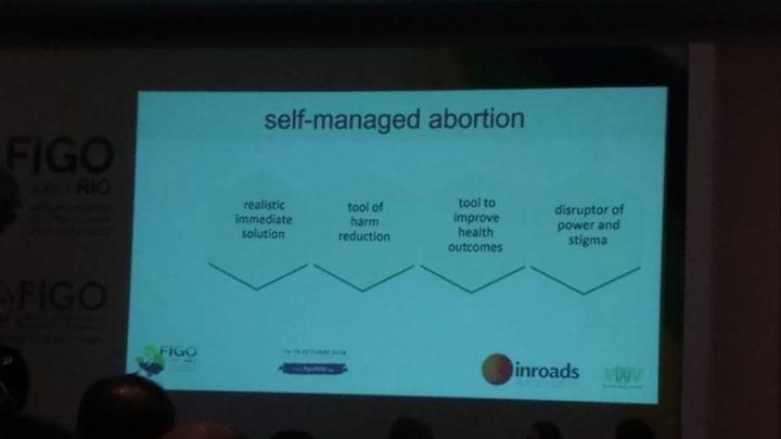 Figo Rio 2018 ensina autoadministração de abortos, o que é crime no Brasil