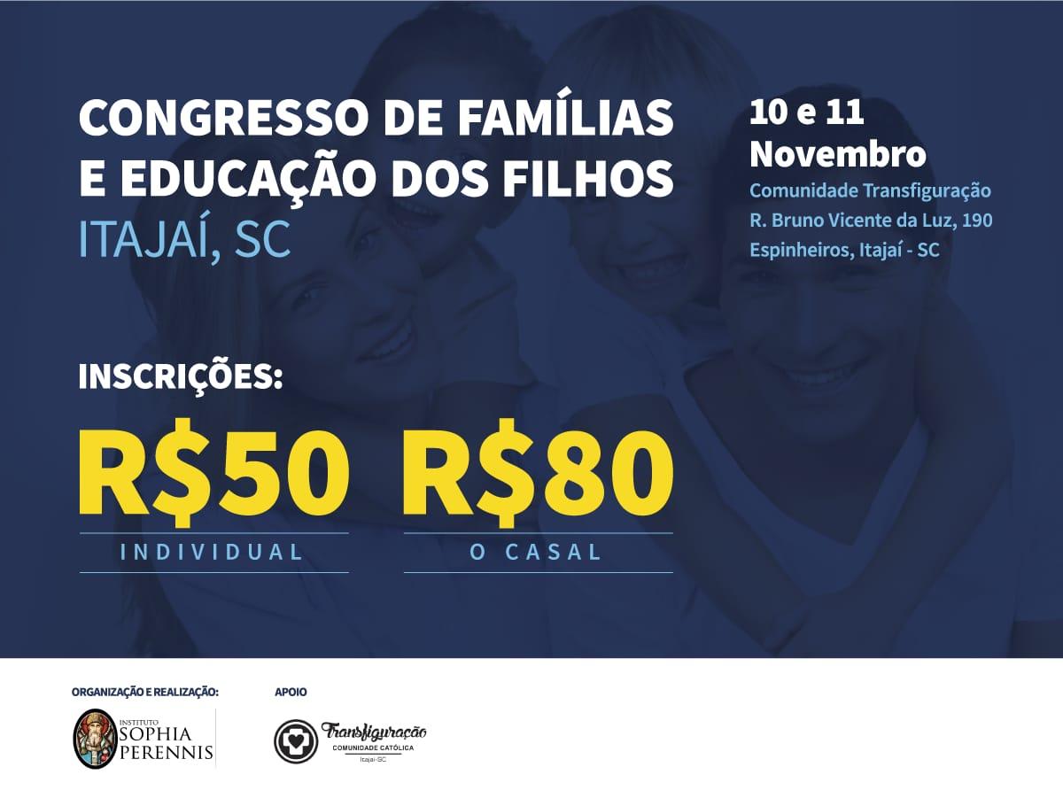 Congresso de famílias educação dos filhos