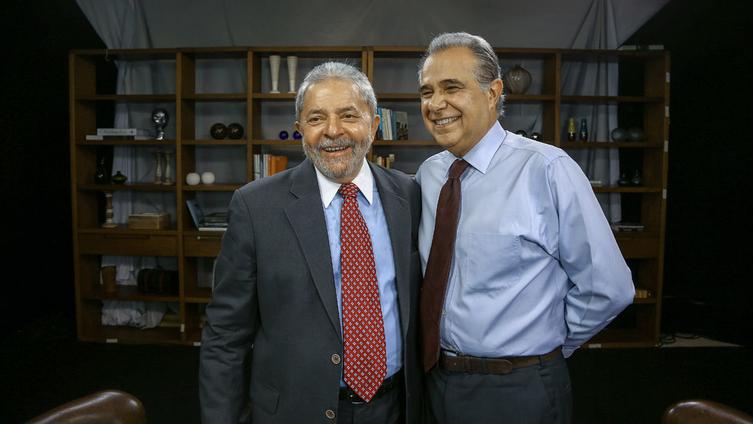 Lula e Roberto DÁvila