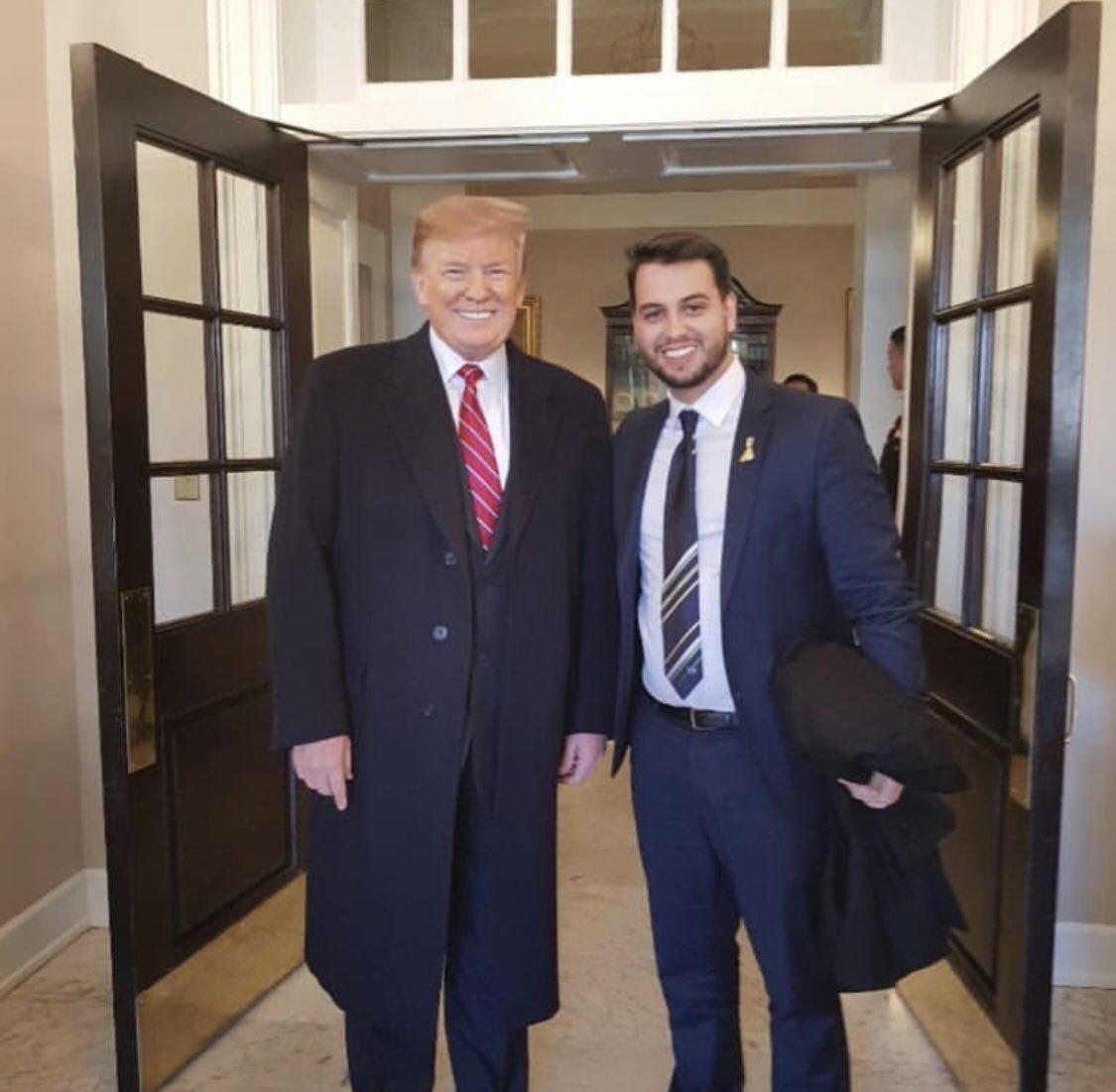 Filipe Martins e Donald Trump
