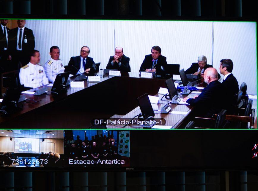 Bolsonaro inaugura sistema de telecomunicações na Antártica
