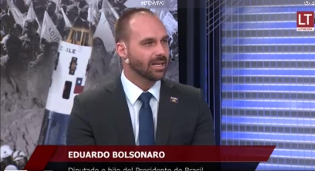 Entrevista de Eduardo Bolsonaro a programa chileno